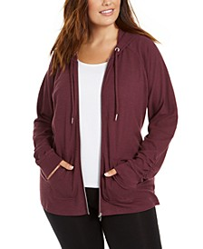 Plus Size Zip-Up Hoodie