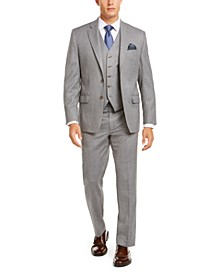 Men's Classic-Fit UltraFlex Stretch Light Gray Suit Separates