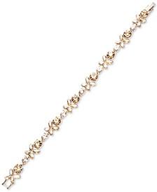 Crystal Flower Flex Bracelet