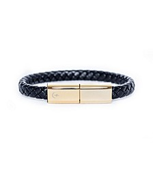 Charging Cable Black and Gold Plated Band