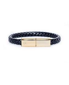 Torro Bracelets Charging Cable Black and Gold Plated Band