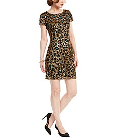 Sequin Leopard-Print Dress