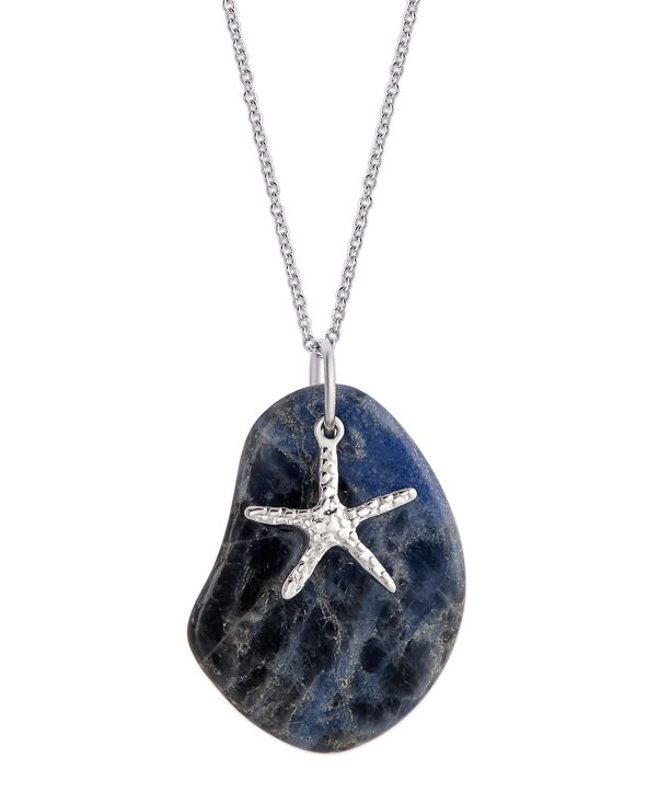 Macy's Pendant Necklace with Starfish Charm in Sterling Silver