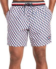"""Men's Robert Patterned 5"""" Swim Trunks, Created for Macy's"""