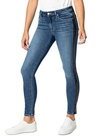 Charlie Cobra-Print Ankle Jeans