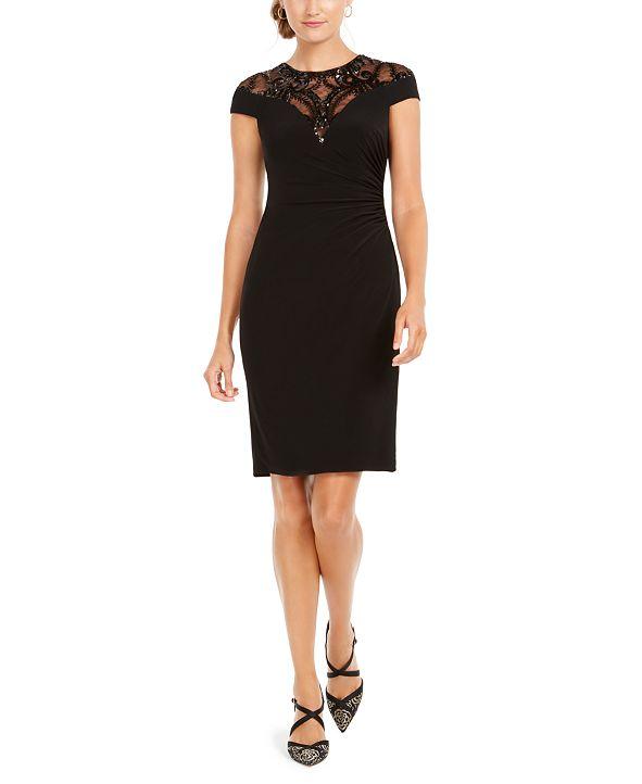 Adrianna Papell Sequin Jersey Dress