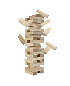 Block Out Wood Toppling Tower Stacking, Collapsing Game W Bag