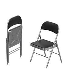 Lavish Home Folding Chairs, Quick Ship (Set of 2)