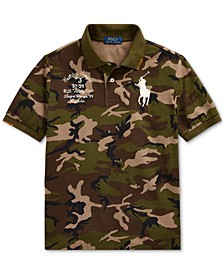 Big Boys Big Pony Camo Cotton Mesh Polo Shirt