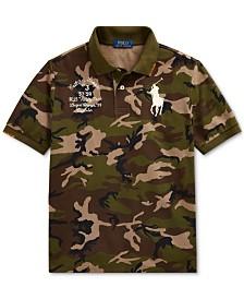 Polo Ralph Lauren Big Boys Big Pony Camo Cotton Mesh Polo Shirt