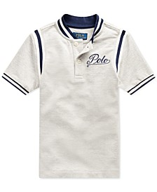 Little Boys Mesh Knit Polo Shirt