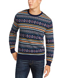 Men's Fairisle Crewneck Sweater, Created for Macy's