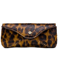 Ardenza Leather Leopard Sunglasses Case
