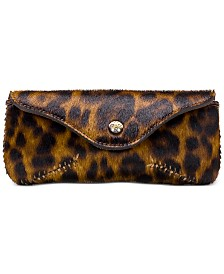 Patricia Nash Ardenza Leather Leopard Sunglasses Case