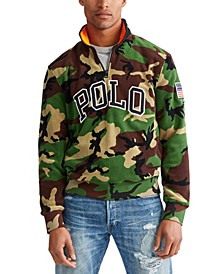 Men's Big & Tall Camo Knit Polar Fleece Quarter-Zip Sweatshirt
