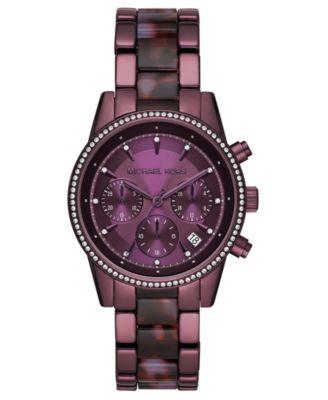 purple michael kors watch