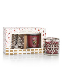 Holiday Snowflake Pillar Tumbler Candle Giftset