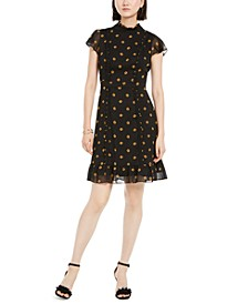 Daisy-Print Chiffon Dress
