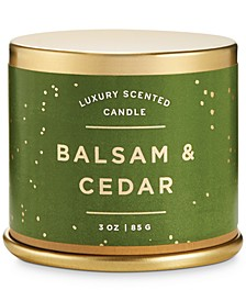 Holiday Demi Tin Candle
