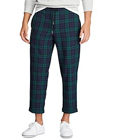 Men's Relaxed Fit Plaid Drawstring Pant