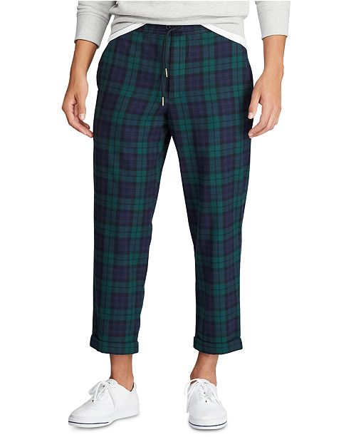 Polo Ralph Lauren Men's Relaxed Fit Plaid Drawstring Pant