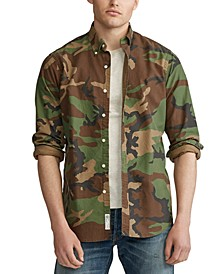 폴로 랄프로렌 Polo Ralph Lauren Mens Classic Camouflage Oxford Shirt,Camo Print