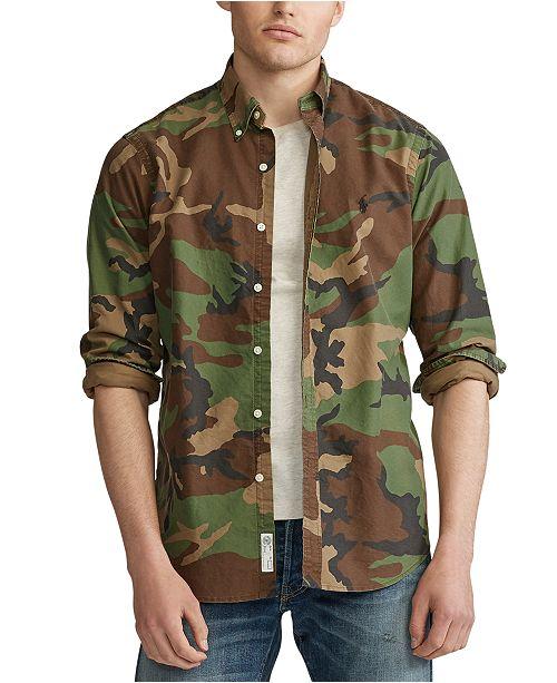 Polo Ralph Lauren Men's Classic Camouflage Oxford Shirt