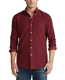 Men's Big & Tall Wale Corduroy Sport Shirt