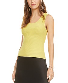Bar III Scoop-Neck Sweater Tank Top, Created for Macy's