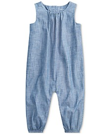 Baby Girls Chambray Romper