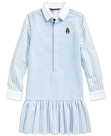 Polo Ralph Lauren Big Girls Classic Oxford Shirtdress