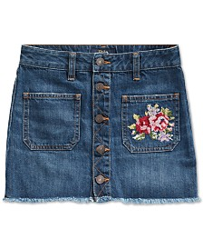 Polo Ralph Lauren Big Girls Denim Button Skirt