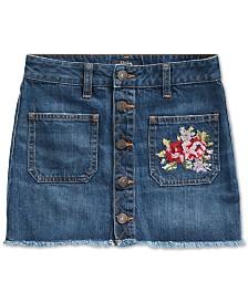 Polo Ralph Lauren Big Girls Denim Button Skirt