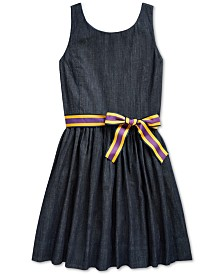 Polo Ralph Lauren Big Girls Fit and Flare Dress