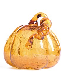 Glitzhome Crackle Glass Pumpkin