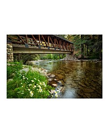 "Collection - Gore Creek Bridge And Creek Canvas Art, 54"" x 36"""