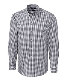 Cutter and Buck Men's Big and Tall Long Sleeves Stretch Gingham Shirt