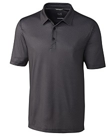 Cutter and Buck Men's Big and Tall Pike Mini Pennant Print Polo