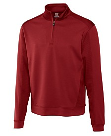 Cutter and Buck Men's Big and Tall DryTec Edge Half Zip Sweatshirt