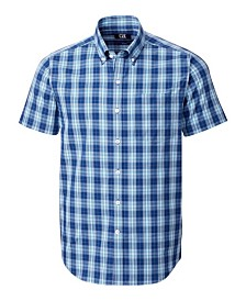 Cutter and Buck Men's Big and Tall Strive Shadow Plaid Short Sleeve Shirt