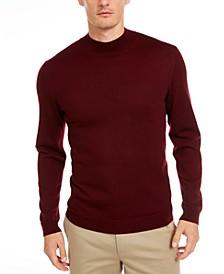 Men's Solid Mock-Neck Merino Sweater, Created for Macy's