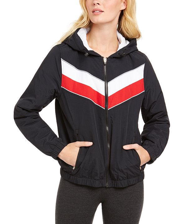Tommy Hilfiger Varsity-Stripe Hooded Jacket