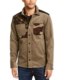Club Room Men's Camouflage Colorblocked Corduroy Shirt Jacket, Created for Macy's