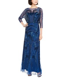 Adrianna Papell Petite Embellished Gown