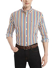 Men's Classic-Fit Maiden Bar Striped Shirt, Created for Macy's