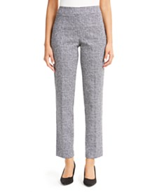 JM Collection Jacquard Straight-Leg Pants, Created for Macy's