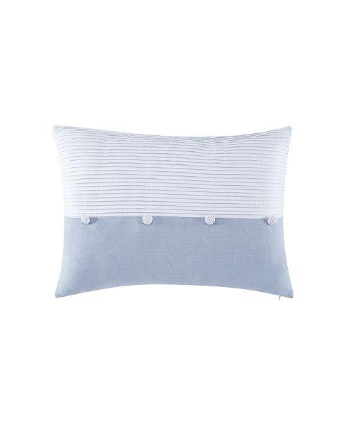 "Charisma Settee 14"" x 20"" Pleated Decorative Pillow"