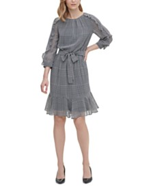 Calvin Klein Printed Wrap Dress