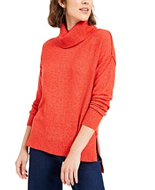 Becca Tilley x Turtleneck High-Low Sweater, Created For Macy's
