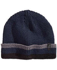 Men's Striped Cuffed Beanie